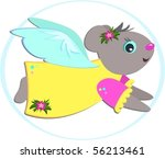 tropical mouse angel vector | Shutterstock .eps vector #56213461