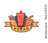 kebab badge  label  logo  icons ... | Shutterstock .eps vector #562135555