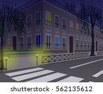 evening city street corner ...   Shutterstock .eps vector #562135612