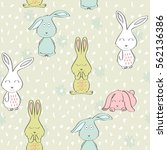 vector seamless pattern with... | Shutterstock .eps vector #562136386