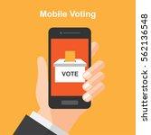 smartphone online voting   vote ... | Shutterstock .eps vector #562136548