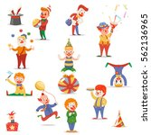 circus clowns cute funny...   Shutterstock .eps vector #562136965