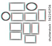 abstract frames. conceptual... | Shutterstock . vector #562141936