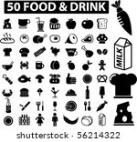 mega food   drink signs. vector | Shutterstock .eps vector #56214322
