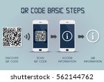 qr code basic steps on... | Shutterstock .eps vector #562144762