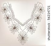 necklace design fashion   Shutterstock .eps vector #56214721