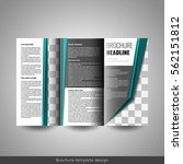 corporate tri fold business... | Shutterstock .eps vector #562151812