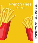 french fries menu | Shutterstock .eps vector #562151956