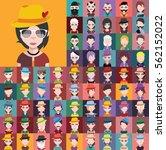 large set of avatars | Shutterstock .eps vector #562152022