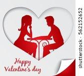 st. valentine's day greeting... | Shutterstock .eps vector #562152652