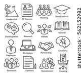 business management icons in... | Shutterstock . vector #562152982
