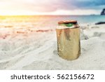 beer can on the beach | Shutterstock . vector #562156672