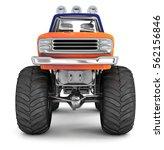 bigfoot truck. 3d image.... | Shutterstock . vector #562156846