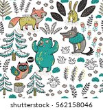 enchanted forest. vector... | Shutterstock .eps vector #562158046