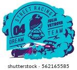 burnout car  japanese drift...   Shutterstock .eps vector #562165585