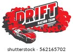 burnout car  japanese drift... | Shutterstock .eps vector #562165702
