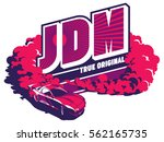 burnout car  japanese drift... | Shutterstock .eps vector #562165735