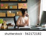 young entrepreneur  teenager... | Shutterstock . vector #562172182