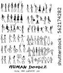 set of doodle people vector...   Shutterstock .eps vector #562174282
