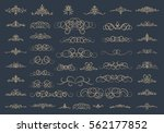 vintage decor elements and... | Shutterstock .eps vector #562177852
