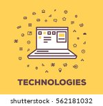 vector business illustration of ... | Shutterstock .eps vector #562181032