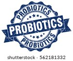 probiotics. stamp. sticker.... | Shutterstock .eps vector #562181332