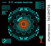 futuristic virtual graphic...