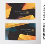 gift voucher two cards pattern... | Shutterstock .eps vector #562186672