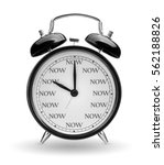 time is now concept. classic... | Shutterstock . vector #562188826