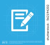 edit icon | Shutterstock .eps vector #562194202