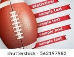 background of american football ... | Shutterstock .eps vector #562197982