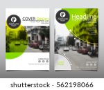 green and yellow circle flyer... | Shutterstock .eps vector #562198066