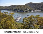 Small photo of View over Berowra Waters village and Hawkesbury River in New South Wales, Australia.