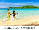 a loving couple  man and woman...   Shutterstock . vector #562204378