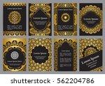 vector templates with mandala...   Shutterstock .eps vector #562204786