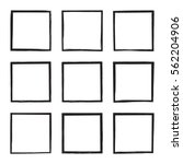 set hand drawn rectangle  photo ... | Shutterstock .eps vector #562204906