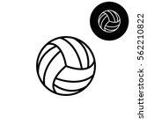 volleyball ball    white vector ...   Shutterstock .eps vector #562210822