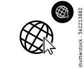 internet    white vector icon   Shutterstock .eps vector #562213882