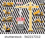 sticker and patch set of... | Shutterstock .eps vector #562217212