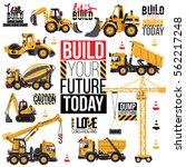 range of construction machinery.... | Shutterstock .eps vector #562217248