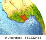 ivory coast in red with...   Shutterstock . vector #562222456