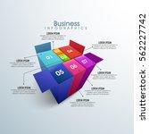 creatie infographic elements in ... | Shutterstock .eps vector #562227742
