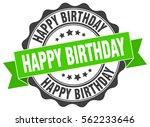 happy birthday. stamp. sticker. ... | Shutterstock .eps vector #562233646