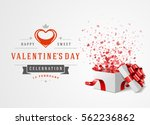 happy valentines day greeting... | Shutterstock .eps vector #562236862