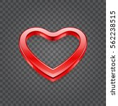 red shiny heart shape isolated... | Shutterstock .eps vector #562238515
