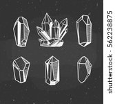 set of vector crystals and... | Shutterstock .eps vector #562238875