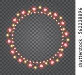 shiny hearts light bulbs... | Shutterstock .eps vector #562238896
