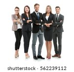 Group Of Smiling Business...
