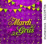 illustration mardi gras... | Shutterstock .eps vector #562239706
