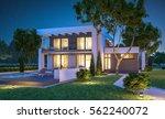 3d rendering of modern cozy... | Shutterstock . vector #562240072